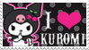 Kuromi Stamp by blackheartqueen