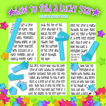 How to Fold a Lucky Star by blackheartqueen