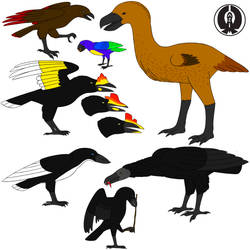 Future Species 2: Corvids by Aliencon