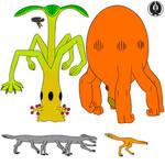 Alternate anatomy aliens colored