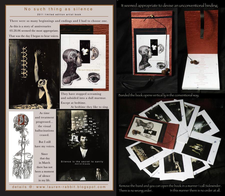 '...Silence...'-handmade books by lauren-rabbit