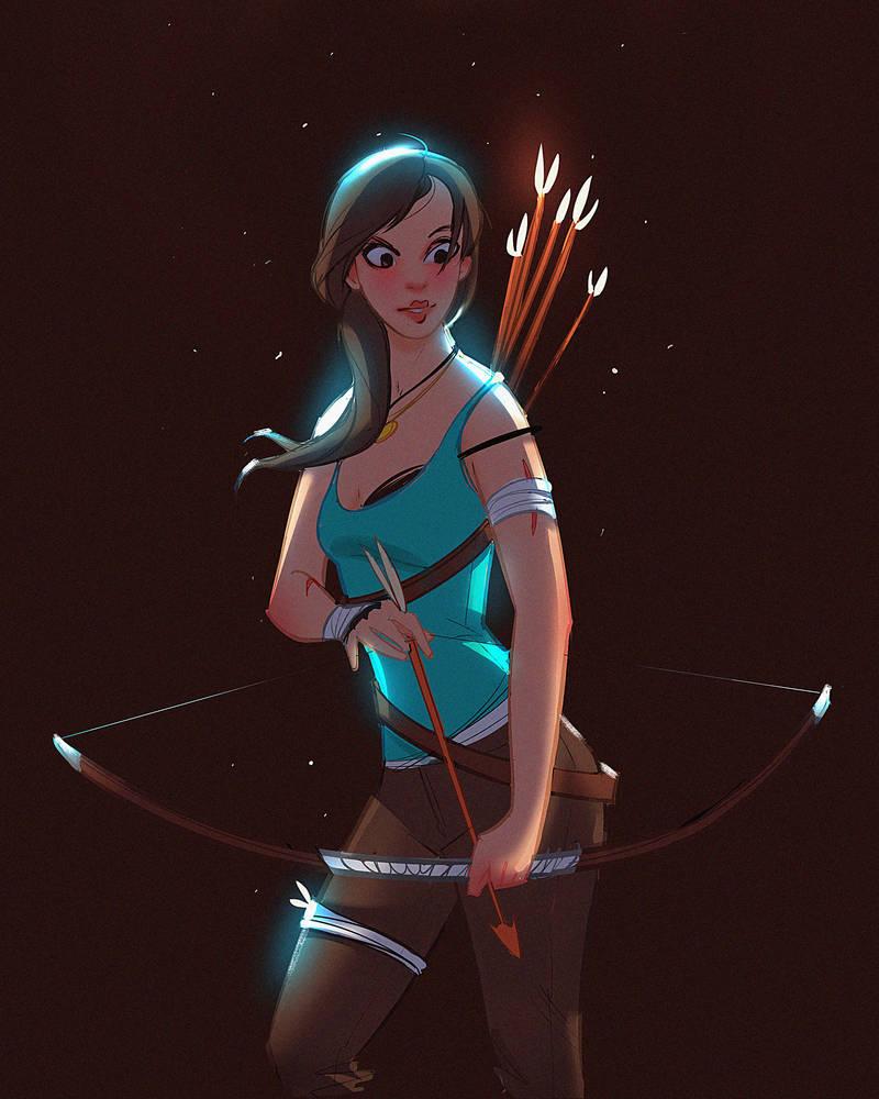 Lara Croft Fan Art by MDanecka