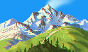 Ghibli Mountain study
