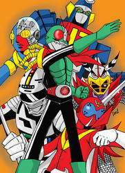 TOEI's classics Super Heroes by deena-chan
