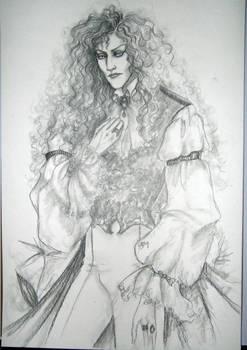Pencil Drawing, the Vampire