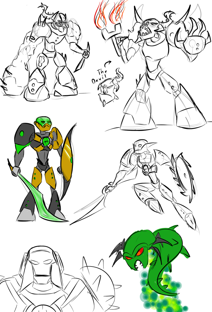 hero factory 2013 sketches by kalhiki - Hero Factory Coloring Pages Furno