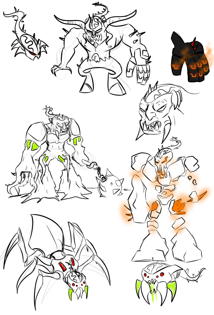 brain attack villain doodles by kalhiki on deviantart