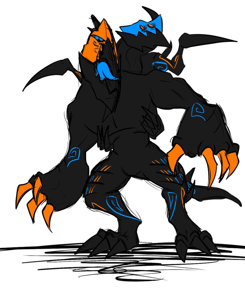 Splitter Beast Sketch by Kalhiki