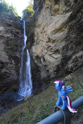 Steam Loco at the Reichenbach Falls by Steam-Loco