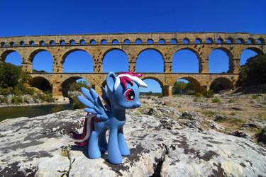 Steam Loco at the Pont du Gard by Steam-Loco