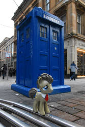 Doctor Whooves and his Tardis in Glasgow by Steam-Loco