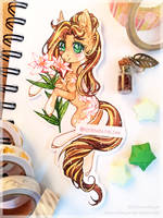 White lily by Kitten-in-the-jar