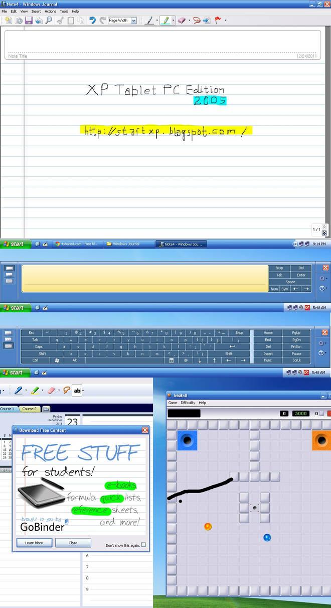 Transform Windows XP to Windows XP Tablet PC 2005 by xulfikar on