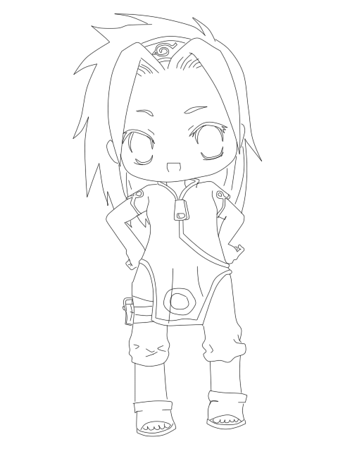 Naruto chibi coloring coloring pages for Chibi naruto coloring pages