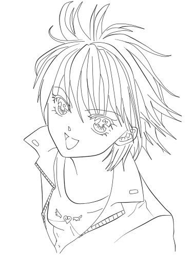 skip beat coloring pages - photo#5