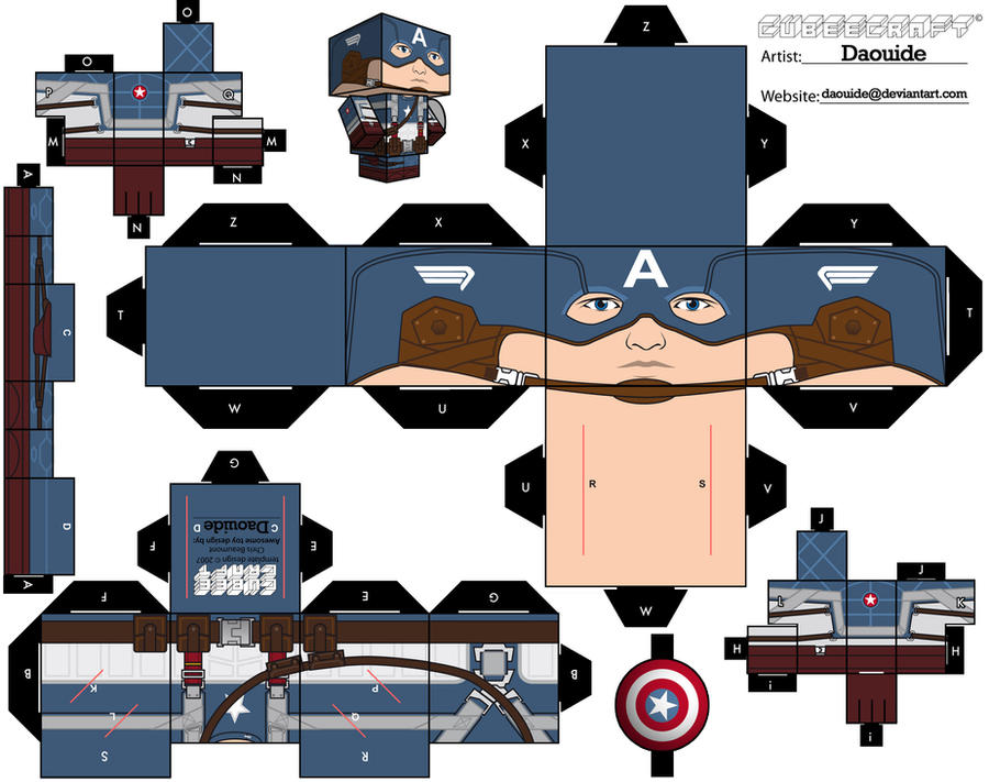 captain america cubeecraft by daouide
