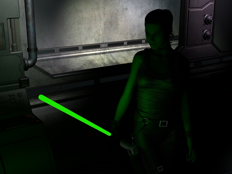 Jedi Corridor Test by Angel-in-Black