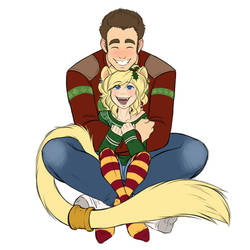 Wildstar - Ugly Sweaters with Gaius and Telyssa by evion