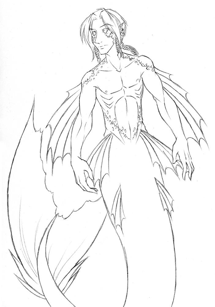 Makali Merman Sketch by evion