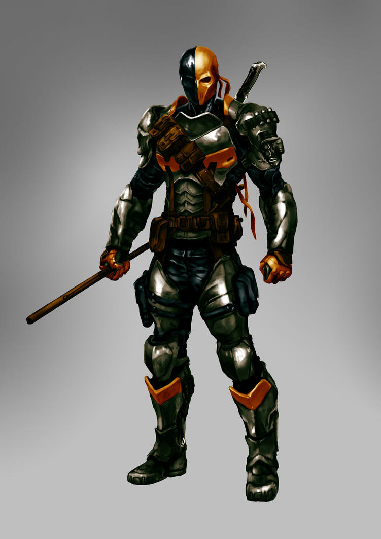 Deathstroke with colours by HellAcolyte