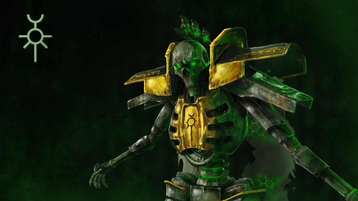 Necron Lord Kronus Close up. by HellAcolyte