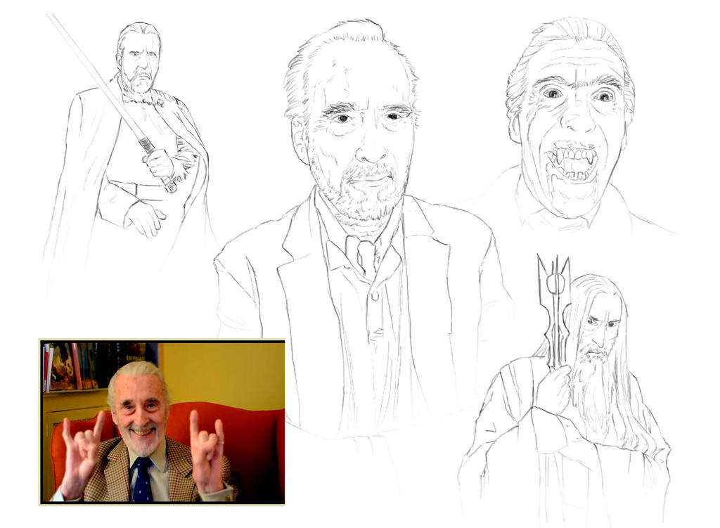 Sir Christopher Lee by HellAcolyte