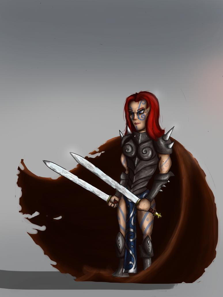 Celtic Warrior Queen by Shodanicron