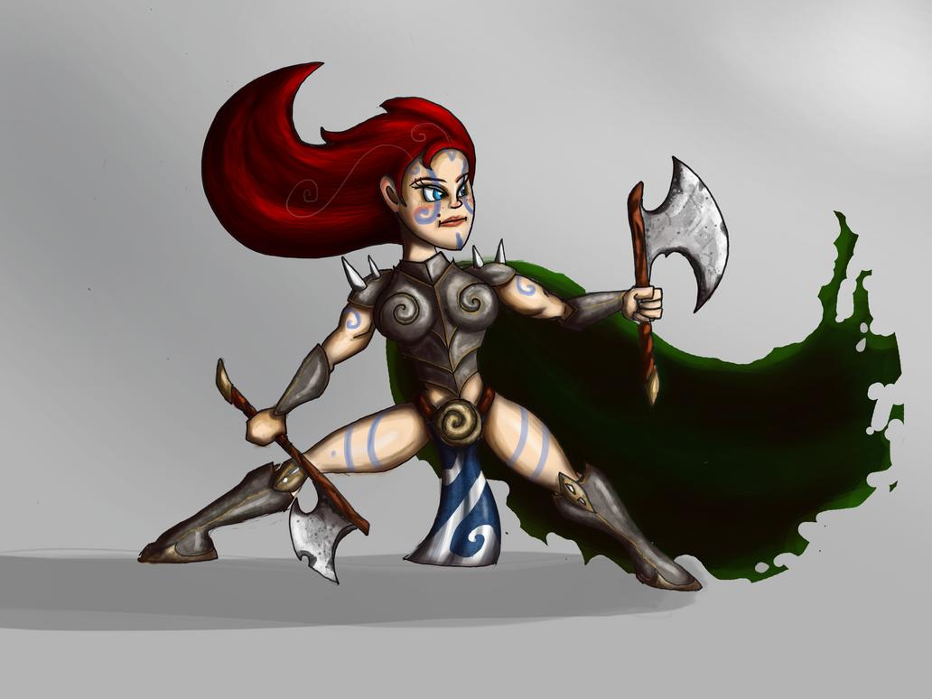 Celtic Warrior Girl by Shodanicron