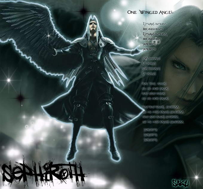 Sephiroth-The one Winged Angel  One Winged Angel Sephiroth