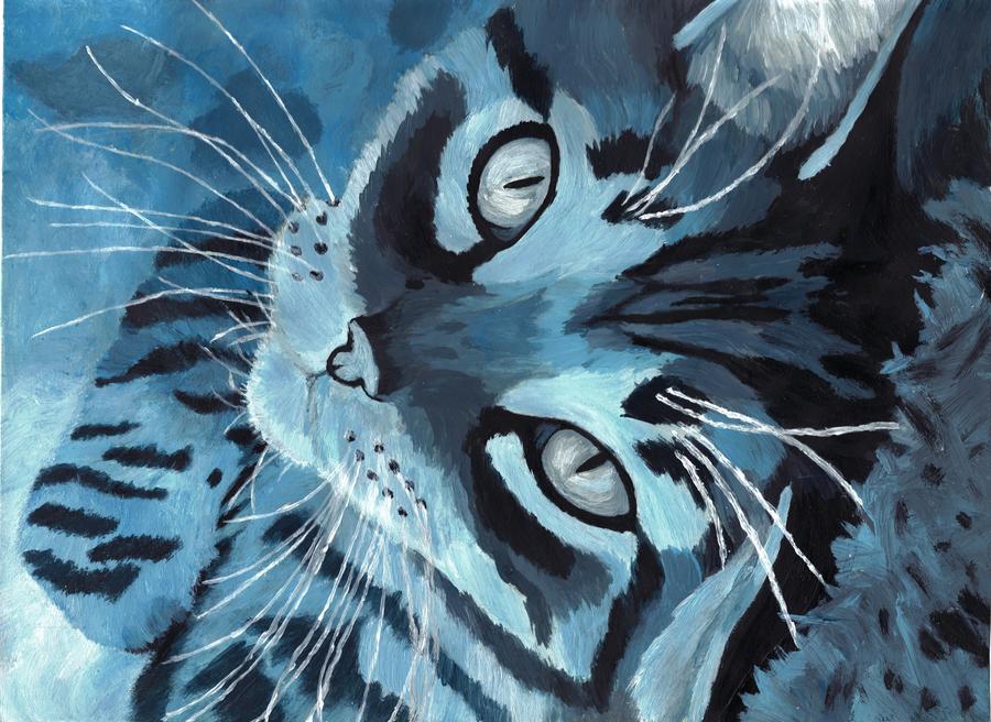 Monochromatic Blue Kitty by Ash-335 ...