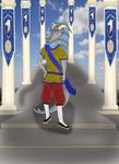 Mivayla Shirin, the Dragonborn Monk by Dream-Dragoness