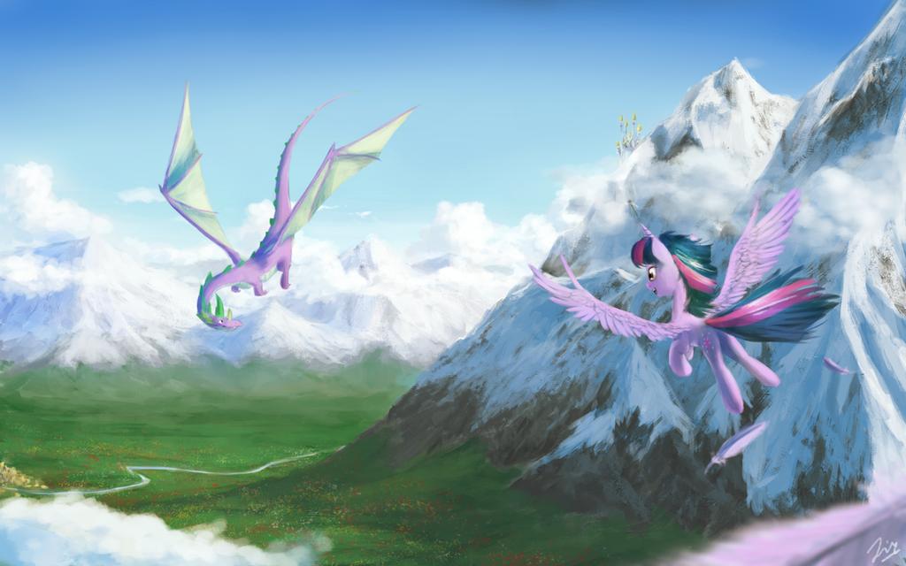 Dancing Skies by AnticularPony