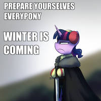 Winter is Coming by AnticularPony