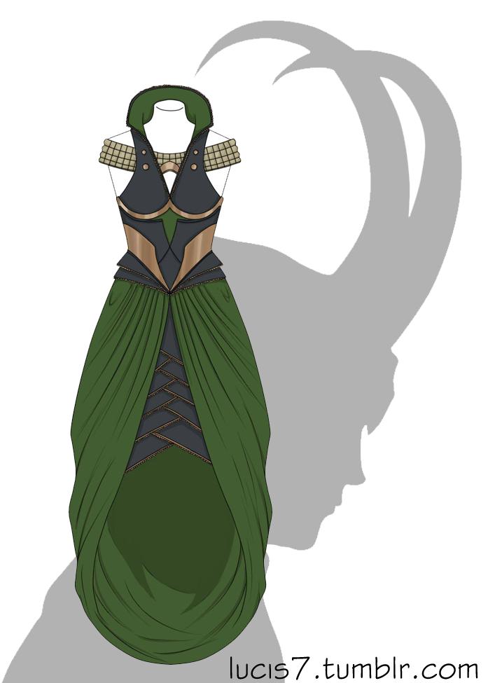 Loki'd dress by Lucis7
