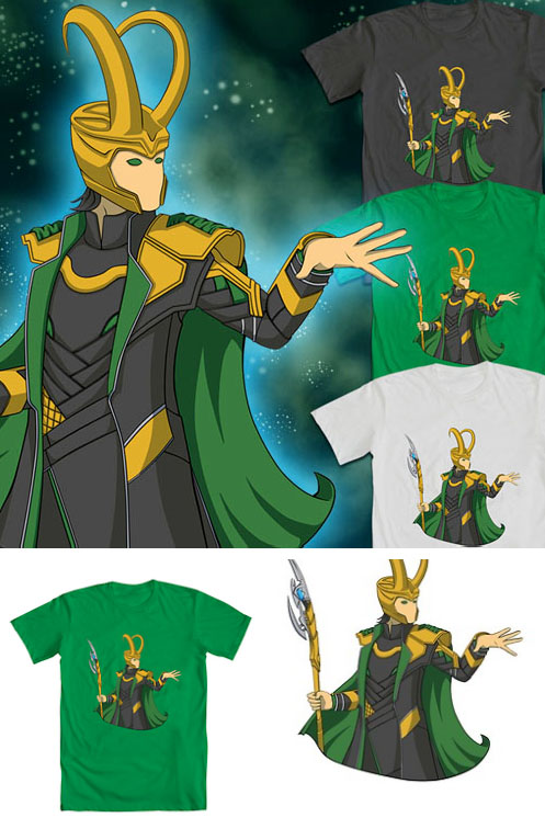 God of Mischief Tee by Lucis7