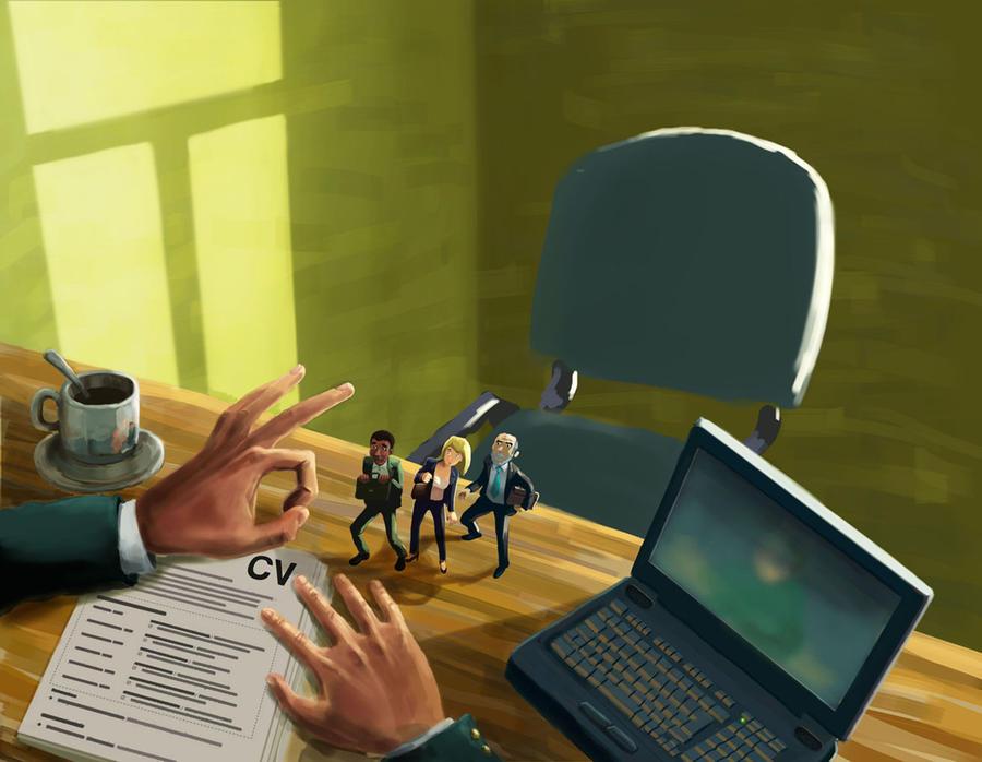 visual on employment discrimation by MatBirdie