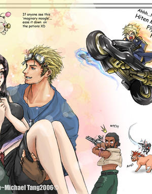 FF7 Love Triangle by spirapride