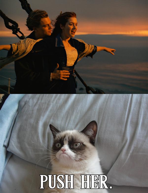 Grumpy Cat Watches Titanic by DoranBladefist