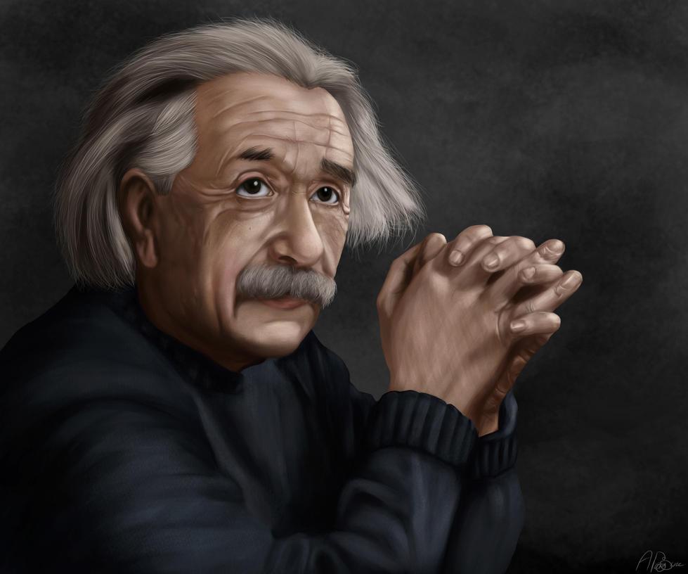 Albert Einstein by AlbanArtist