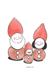 Santa Claus little family