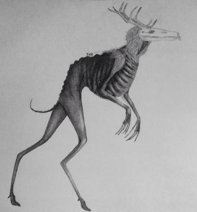 Pencil Wendigo. by Sylliika