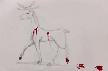 Deer Wendigo by Sylliika