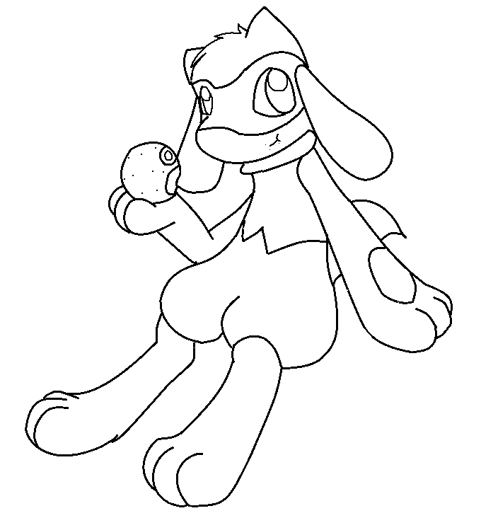 coloring Pokemon pages riolu