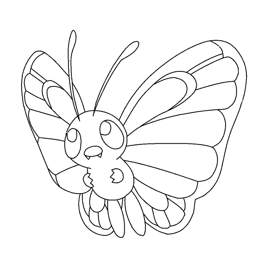 pokemon butter free coloring pages - photo#4