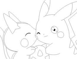 pokemon kiss lineart by michy123