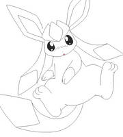 glaceon lineart 1 by michy123