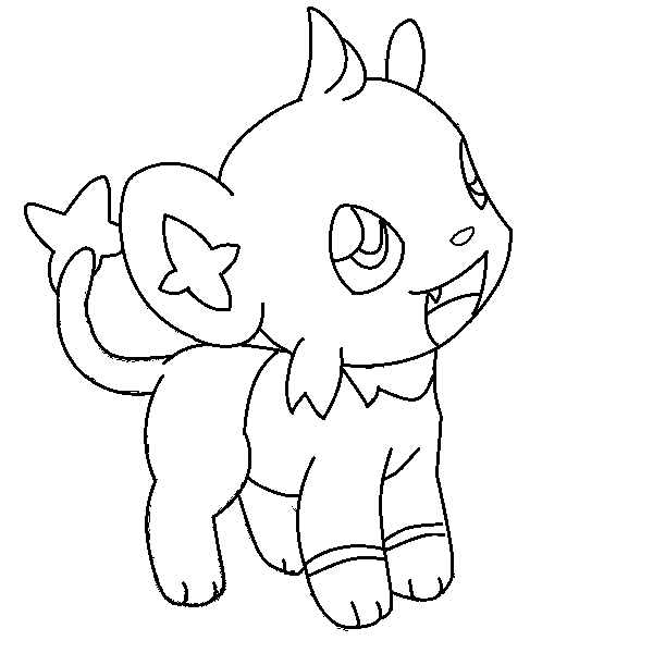 shinx lineart 1 'request' by michy123