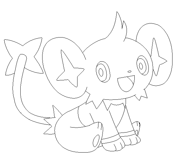 pokemon shinx coloring pages images pokemon images