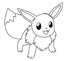 eevee lineart 7 by michy123