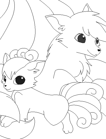 pokemon coloring pages ninetails - photo#28